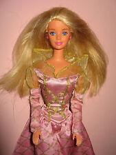 B244-princesse barbie mattel 1991 rose Princesses-robe + chaussures + Boucles d'oreilles