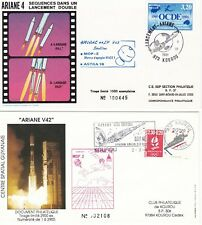 1991 - Launch ARIANE V42 - 2  space covers from Kourou
