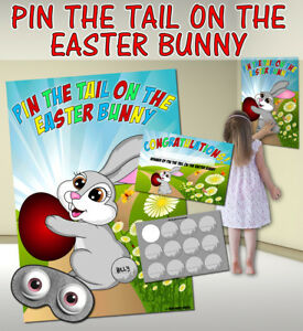 PIN THE... VARIOUS THEMES AVAILABLE INCLUDING: TAIL ON EASTER BUNNY GAME!