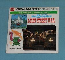 vintage WALT DISNEY WORLD -- MAIN STREET U.S.A. VIEW-MASTER REELS packet
