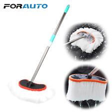 Telescopic Car Wash Brush Soft Milk Silk Mop Adjustable Cleaning Washing Tool