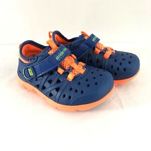 Stride Rite Made 2 Play Toddler Boys Sneakers Water Shoes Navy Blue Orange 5