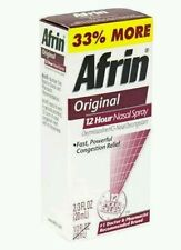 2 (Two) Afrin Original Nasal Decong Spray, Bonus Size, 20 ml each (No Box) Read