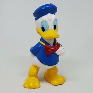 Vintage Disney Donald Duck PVC Figure Lucky Cake Topper Bowtie