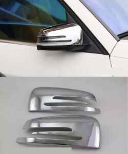 Chrome Rearview Side Mirrors Cover trim for 12-15 Benz ML W166 GL X166 Mirror 2P