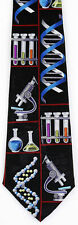 NEW! Lab Science Chemistry DNA Test Tubes Microscope Teacher Novelty Tie  2082
