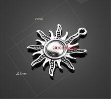 NEW 20pcs Tibet silver sun finding Charm Pendant 28x25mm
