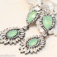 Hot Handmade Crystal/Glass Bling Rainbow Ear Drop/Dangle Earring 7.9cm E265