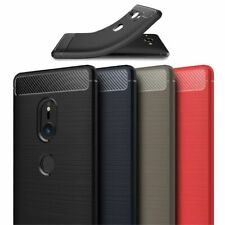 TPU-Case Handy-Hülle #T55 Carbon-Look zu SONY XPERIA XZ2 COMPACT XZ3 Cover