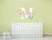 Nursery Wall Sticker Baby Name Monogram | Personalised Name Wall Sticker