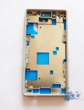 Sony Xperia Z3 Compacte D5803 D5833 Avant Boîtier Cadre Facette Plaque Argent +