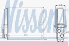 NISSENS 73641 Heizungs Matrix Volvo S80 98