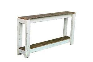 Rustic Wooden 60'' Sofa Table
