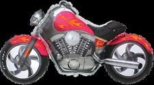 Moto Custom Fucsia Estilo Harley Davidson Moto Bike Globo Grande