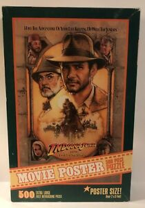Vintage Indiana Jones Last Crusade Movie Poster 500 Piece Puzzle 1989 (4057-1)