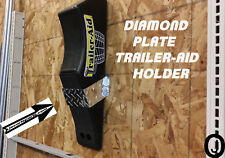 Trailer Aid Holder Aluminum Diamond Plate Trailer Aid Accessory