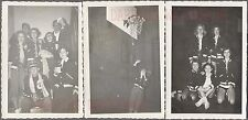 Lot of 3 Vintage 1940s Photos Pretty Girls in Playing on Basketball Team 698609