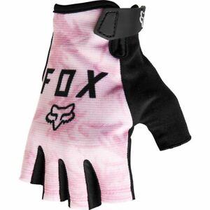New Fox RANGER Women's Mountain Bike Fingerless Gloves Pink Medium  27386-273-M