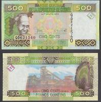 (B1) Guinea 500 Francs 2015 UNC CRISP Banknote P-47 ###