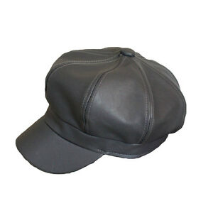 Men Women Newsboy Gatsby Hats Cabbie Driving Hat Leather Octagonal Baker Cap