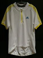 Adidas Cycle Cycling Jersey with Back Pockets Mens Yellow White M