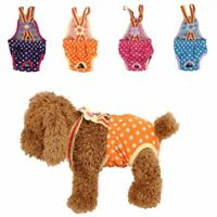 Dog Sanitary Pants Female Dog Diaper Menstrual Suspender Washable Underwear Pant