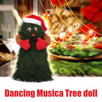 Christmas Children Xams Gift Dancing Electric Musical Toy Santa Spin Tree Doll