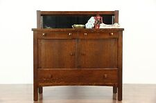 Arts & Crafts Mission Oak Antique Craftsman Sideboard, Server or Buffet