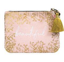 Beautiful Quartz Gilded Flower Papaya Art Pocket Clutch Handbag Bag Pouch Tassel