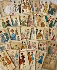New ListingLot of 32 vintage 1960s Simplicity sewing patterns most bust 32