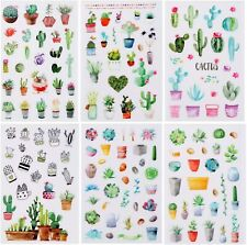 6 Sheets  Cactus Succulents  Stickers Papercraft Planner Supply Plant Journal