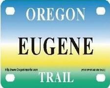 EUGENE Oregon Trail - Mini License Plate - Name Tag - Bicycle Plate!