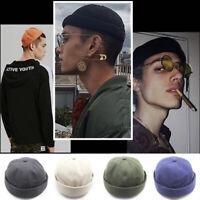 Retro Men Hip Hop SkullCap Sailor Cap Brimless Landlord Beanie Hat Adjustable