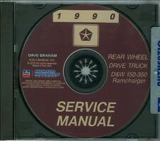 1991  DODGE TRUCK SHOP/BODY  MANUAL ON CD-COVERS  D & W 150-350 RAMCHARGERS