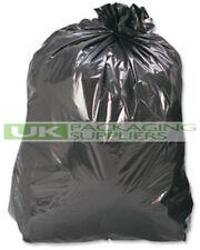 More details for 100 black plastic polythene refuse rubbish sacks bin liners bags 18x29x39