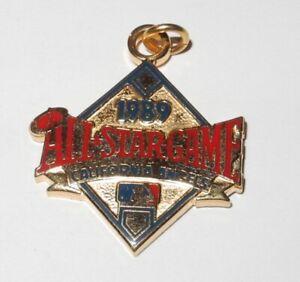 1989 Baseball All Star Game Press Pin California Angels Stadium Button Charm v3
