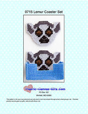 Lemur Coaster Set-Plastic Canvas Pattern or Kit