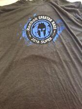 NEW Official Reebok Spartan Race 2016 SUPER Finisher Shirt XL