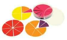 Fraction Circles Tiles Set 51 pieces Learn Fractions Maths Games Durable Plastic