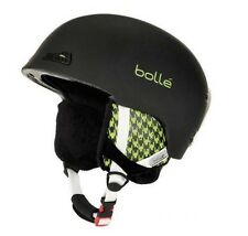NEW in box Bolle Ski Helmet 58-61 CM Black Green Plaid snowboard tubing B-Wild
