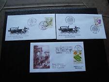 FRANCE - 3 enveloppes 1992 (cy37) french