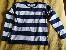 Agnes b dark blue and white striped cotton top
