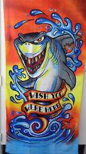 Shark Wish you were Here Cotton Velour Beach Bath Towel 30x60