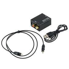 Digital Optical Coaxial Toslink Signal to Analog Audio Converter Adapter RCA GU