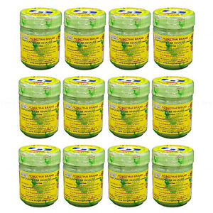 12 pcs HONG THAI Original Tradition Herbal Nasal Inhaler Vertigo
