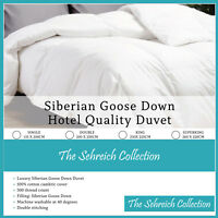 Pure Siberian Goose Down Duvet Quilt Hotel Quality All Sizes & Togs Available