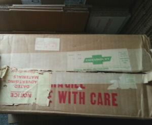 1970 Chevrolet Promo Car  Shipping Box To The Dealer
