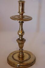 Spanish candlestick c. 1680 with high drip pan; separately cast components