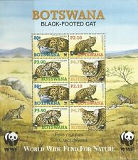 BOTSWANA 2005 WWF FOR NATURE - ANIMALS BLACK-FOOTED CAT MNH Sc#809a SHEET 0343LB