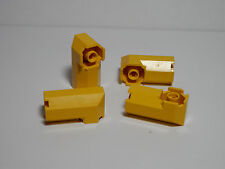 LEGO Set of 4 Modified Octagonal Brick 2x2x 3 1//3 Side Studs Yellow 7-12  6042